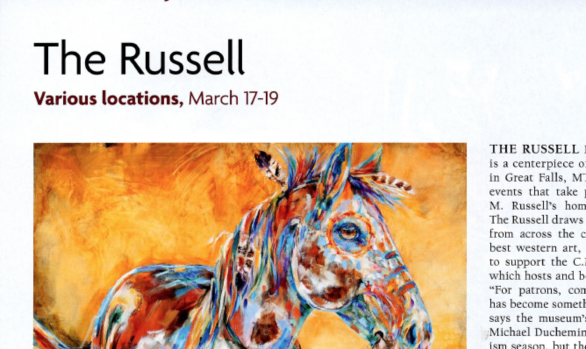 """The Russell"" Southwest Art, February 2016"